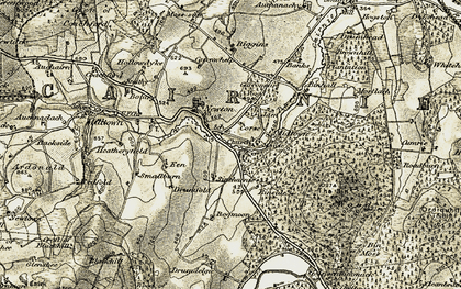 Old map of Wood of Milleath in 1908-1910