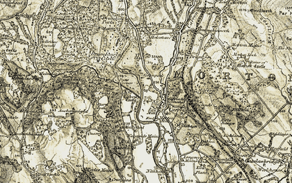 Old map of Tibbers Castle in 1904-1905