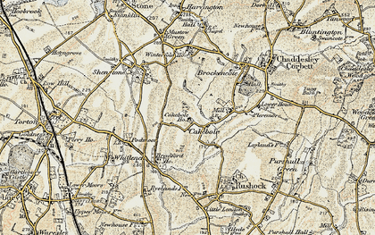 Old map of Winterfold Ho in 1901-1902