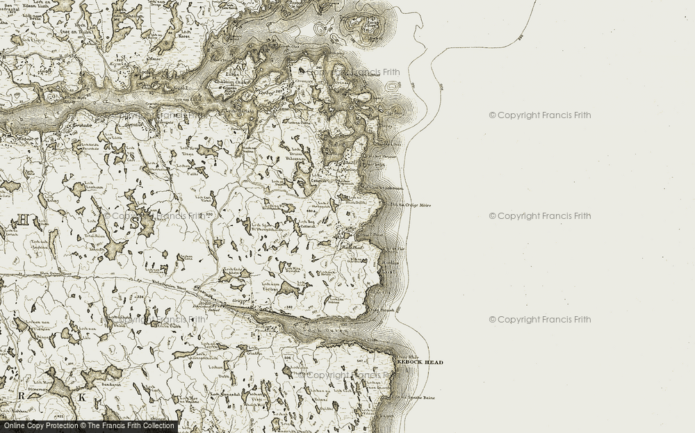 Old Map of Historic Map covering Baile Phail in 1909-1911
