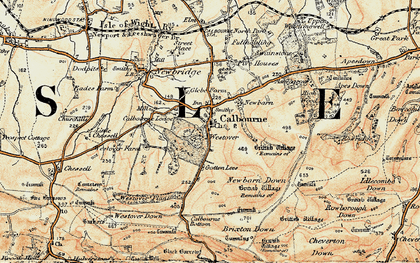 Old map of Westover Plantation in 1899-1909