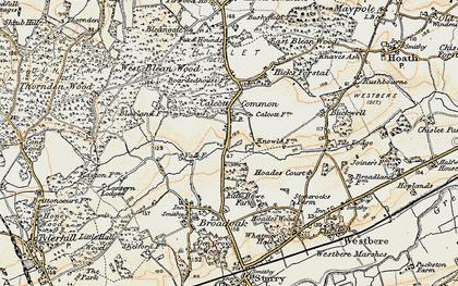 Old map of Wealden Forest Park in 1898-1899