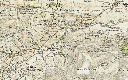 Old map of Ashgill in 1904
