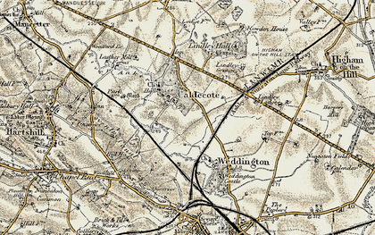 Old map of Lindley Grange in 1901-1903