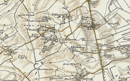Old map of Caldecote in 1901