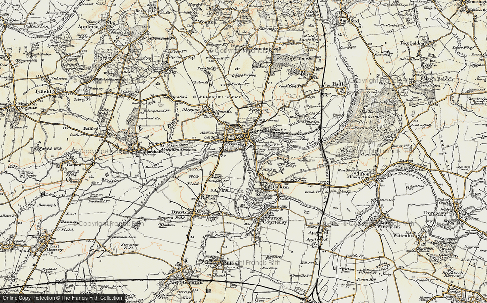 Old Map of Historic Map covering Abingdon Br in 1897-1899