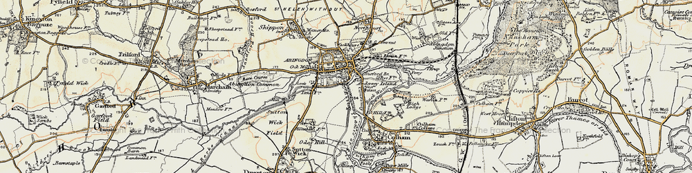 Old map of Abingdon Br in 1897-1899