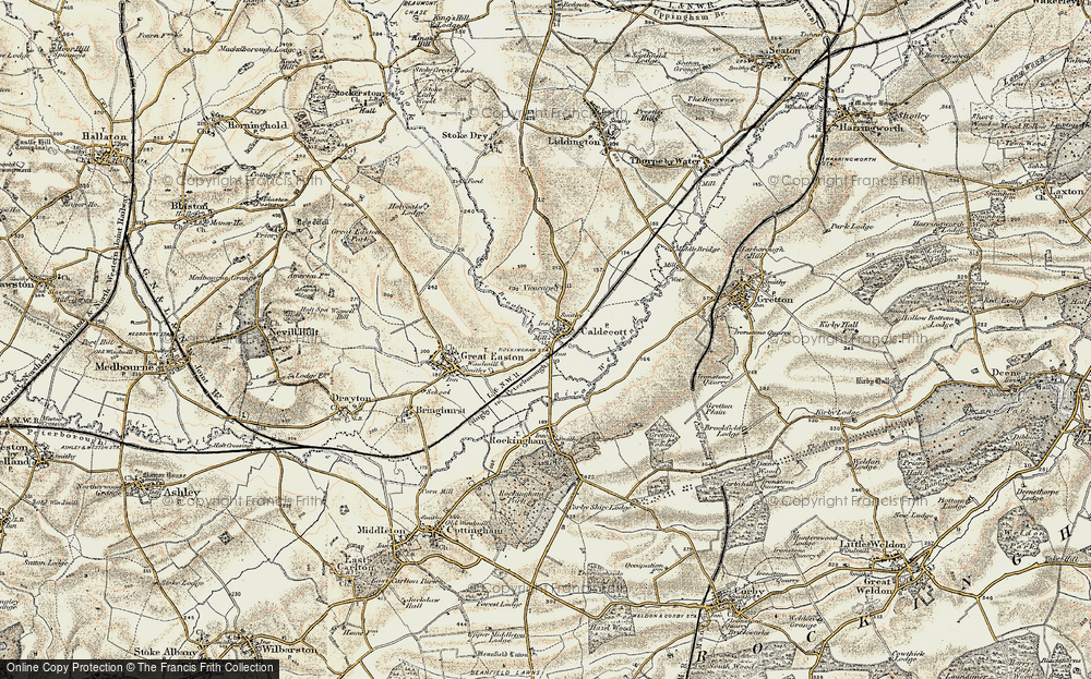 Old Map of Caldecott, 1901-1902 in 1901-1902