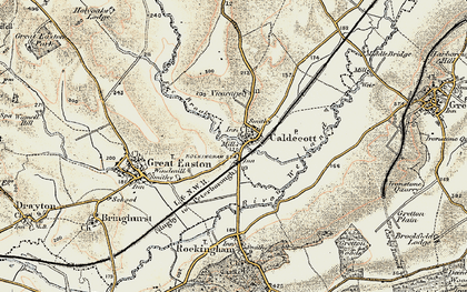 Old map of Caldecott in 1901-1902