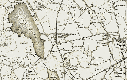Old map of Achavarn in 1911-1912