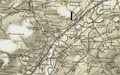 Old map of Westlinbank in 1904-1905