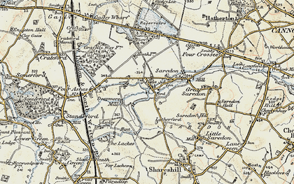 Old map of Latherford in 1902