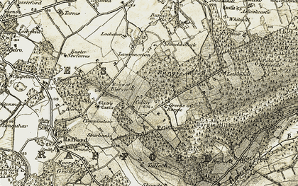 Old map of Wester Lawrenceton in 1910-1911