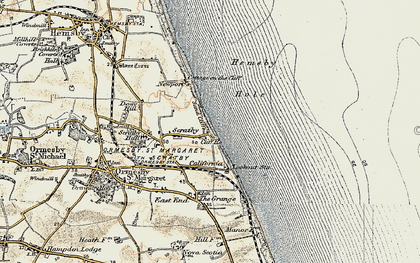 Old map of California in 1901-1902