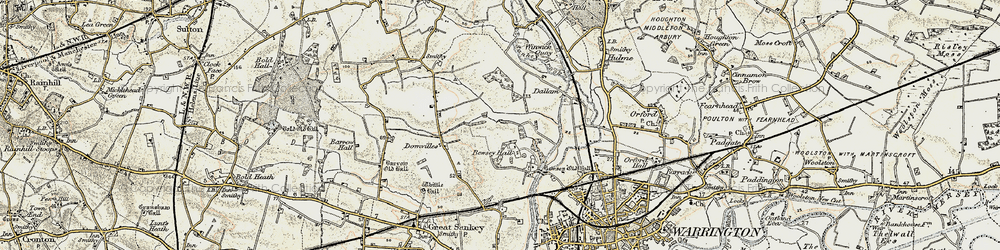 Old map of Callands in 1903