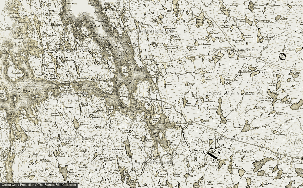 Old Map of Historic Map covering Àird a' Chaolais in 1911