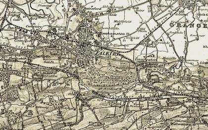 Old map of Callendar Park in 1904-1906