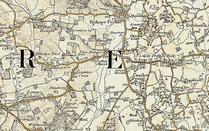 Old map of Leighton Court in 1899-1901