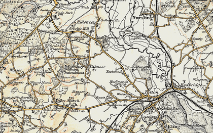 Old map of Calmore in 1897-1909