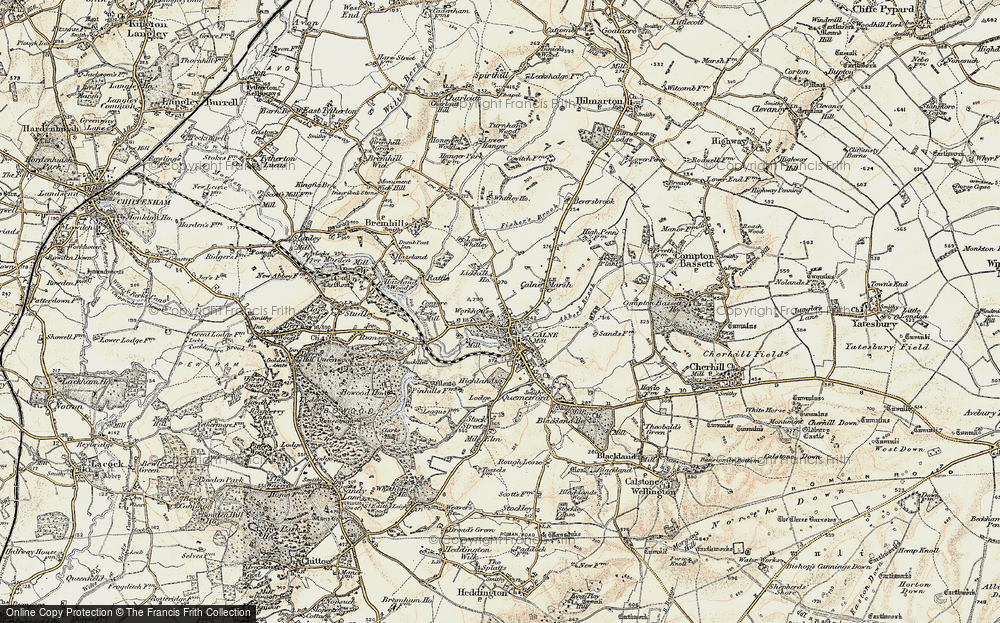 Old Map of Calne, 1899 in 1899