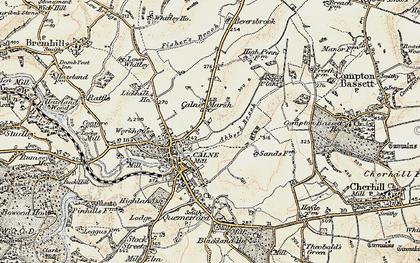 Old map of Abberd Brook in 1899