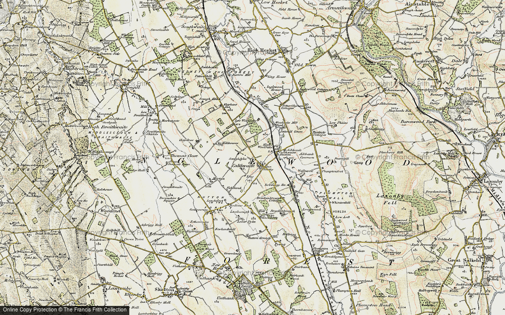 Old Map of Historic Map covering Wool Oaks Mill in 1901-1904