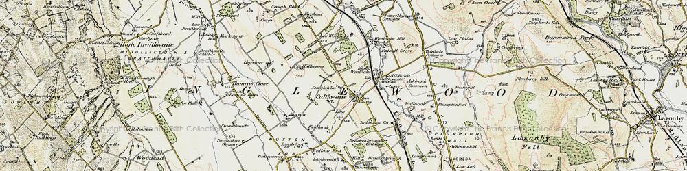 Old map of Wool Oaks Mill in 1901-1904