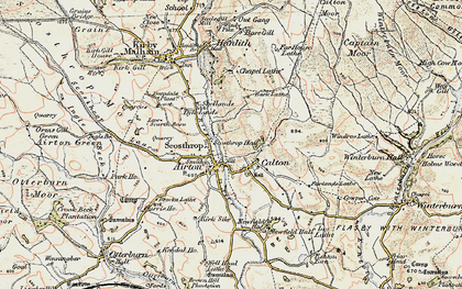 Old map of Calton in 1903-1904