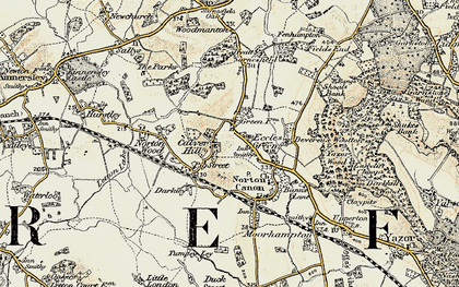 Old map of Letton Lake in 1900-1901