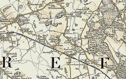 Old map of Darkley in 1900-1901