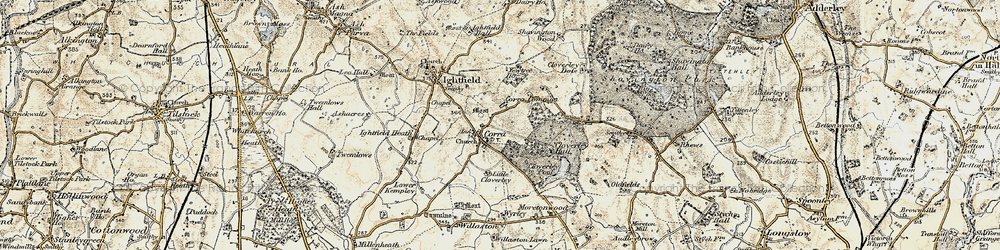 Old map of Calverhall in 1902