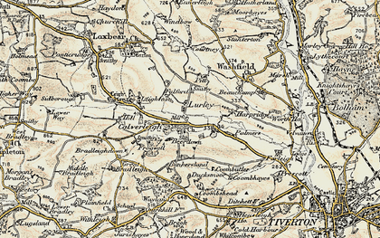 Old map of Leigh Barton in 1898-1900