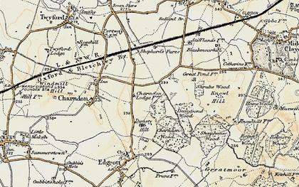 Old map of Calvert in 1898-1899