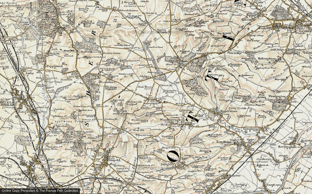 Old Map of Historic Map covering Abbey House in 1902