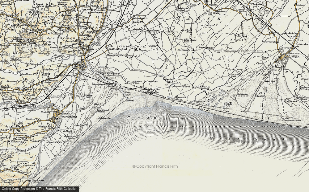 Old Map of Camber, 1898 in 1898