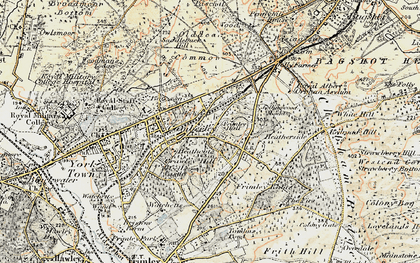 Old map of Camberley in 1897-1909