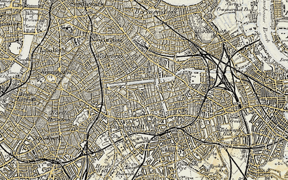 Old map of Camberwell in 1897-1902