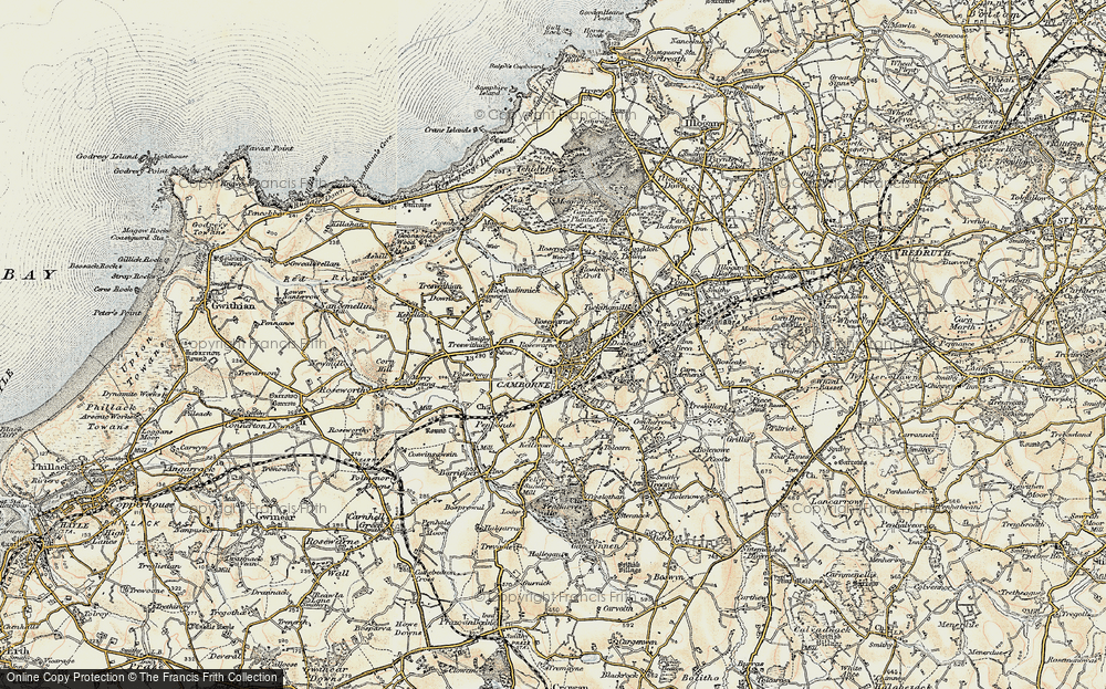 Old Map of Camborne, 1900 in 1900