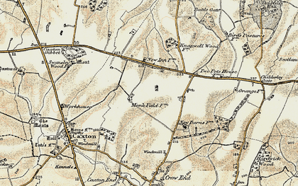 Old map of Cambourne in 1899-1901