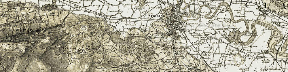 Old map of Woodside in 1904-1907