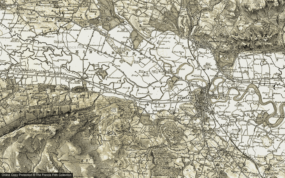 Old Map of Historic Map covering Baad in 1904-1907
