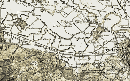 Old map of Westwood Lane in 1904-1907