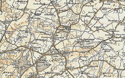 Old map of Whitsunden in 1897-1898