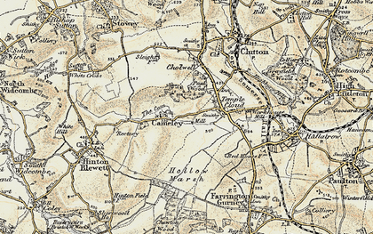 Old map of Cameley in 1899