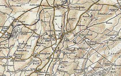 Old map of Camelford in 1900