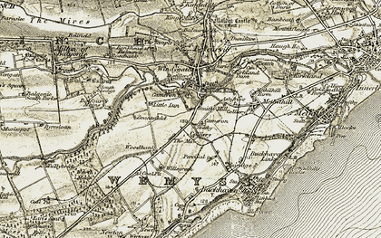 Old map of Woodbank in 1903-1908