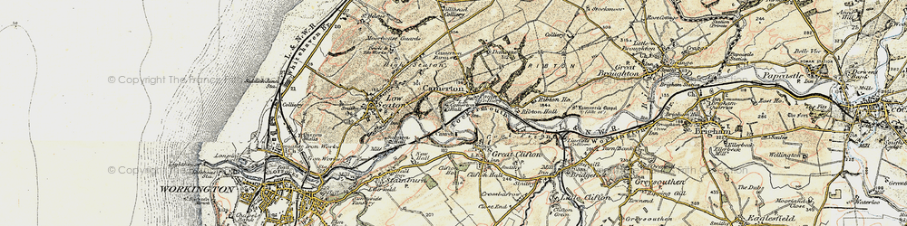 Old map of Camerton in 1901-1904
