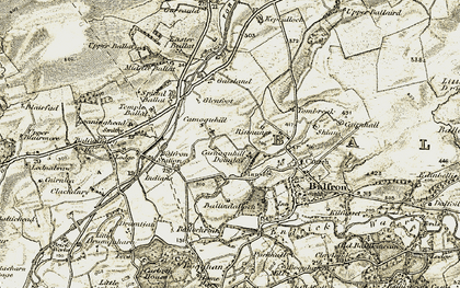 Old map of Tombrake in 1904-1907