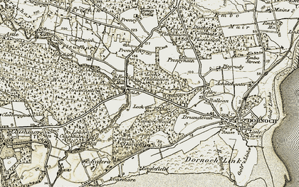 Old map of Achley in 1911-1912