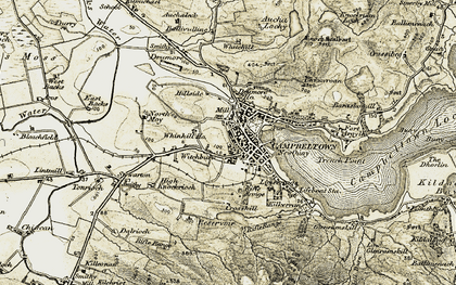 Old map of Witchburn in 1905-1906